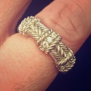 Judith Ripka Jewelry - Stunning Judith Ripka estate band ring